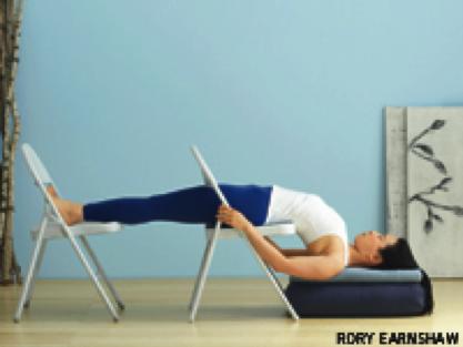 take a look at iyengars yin variations  yin yoga therapy